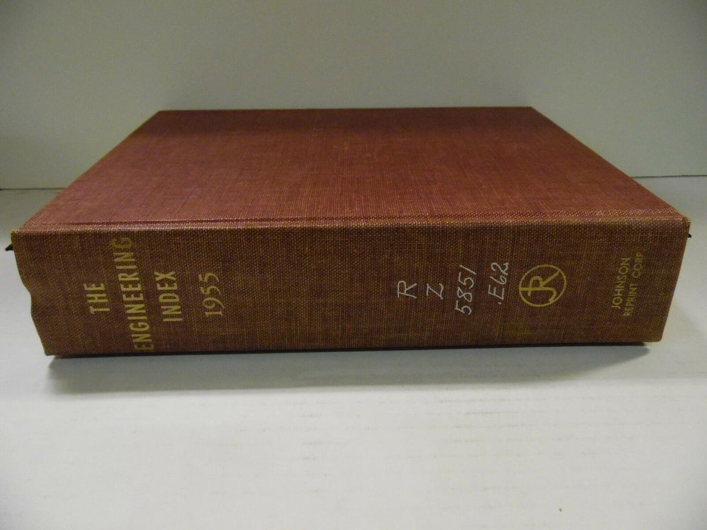 The Engineering Index 1955 American Society Mechanical Engineers FAA 102518AME7