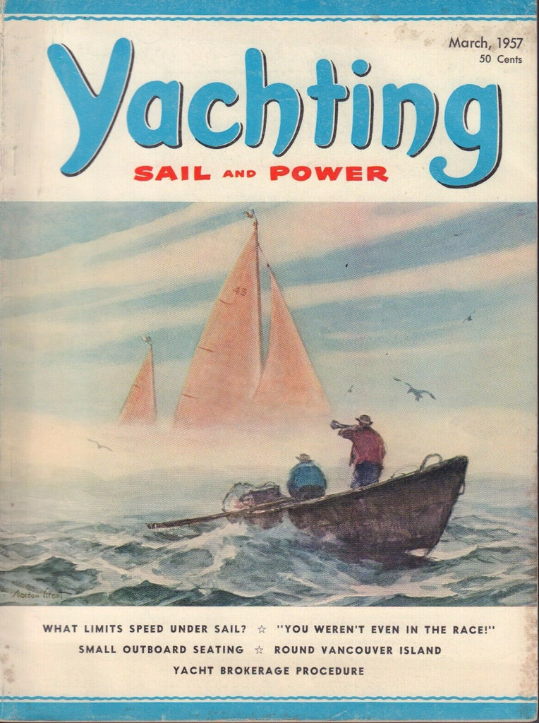 Yachting Power And Sail March 1957 Round Vancouver Island 032217nonDBE2