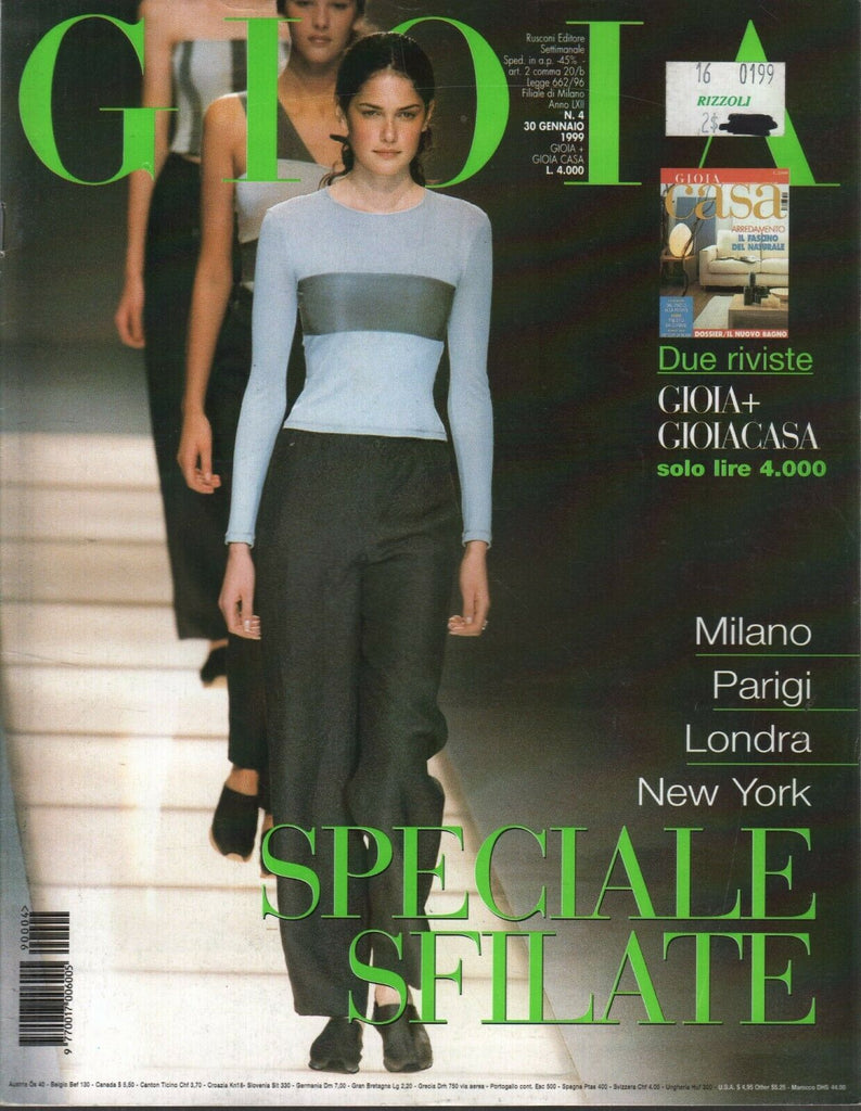 Gioia Italian Fashion Magazine January 1999 Milano Parigi Speciale 120919AME