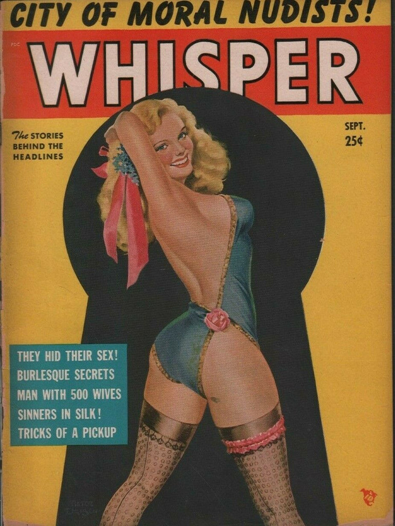 Whisper Pinup Cheesecake September 1951 Peter DriBen Cover 071719DBE