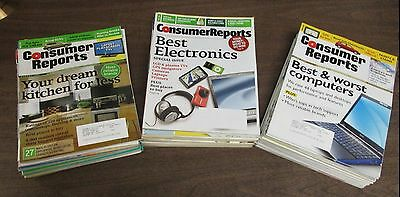 Cosumer Report Magazine Lot of about 50 Issues! 1999-2004 w/ ML 040314ame