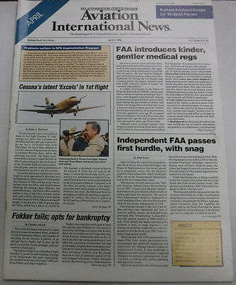 Aviation International News Magazine Cessna's Latest April 1996 FAL 072115R