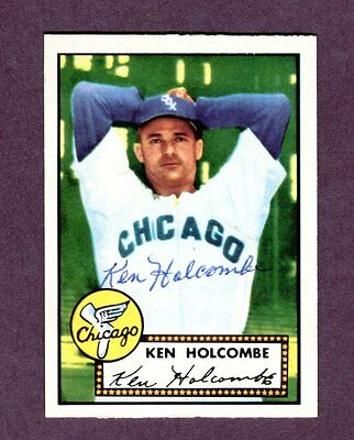 Autographed Signed 1952 Topps Reprint Series #95 Ken Holcombe w/coa jh33