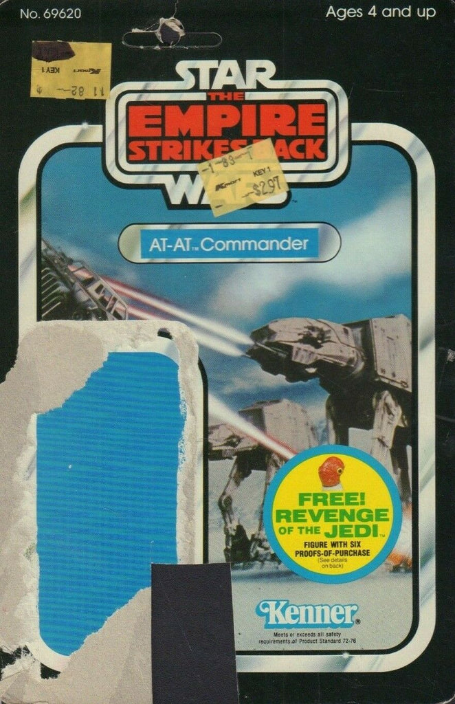 AT-AT Commander REVENGE OF THE JEDI TESB Card Back Only 1982 031419DBT