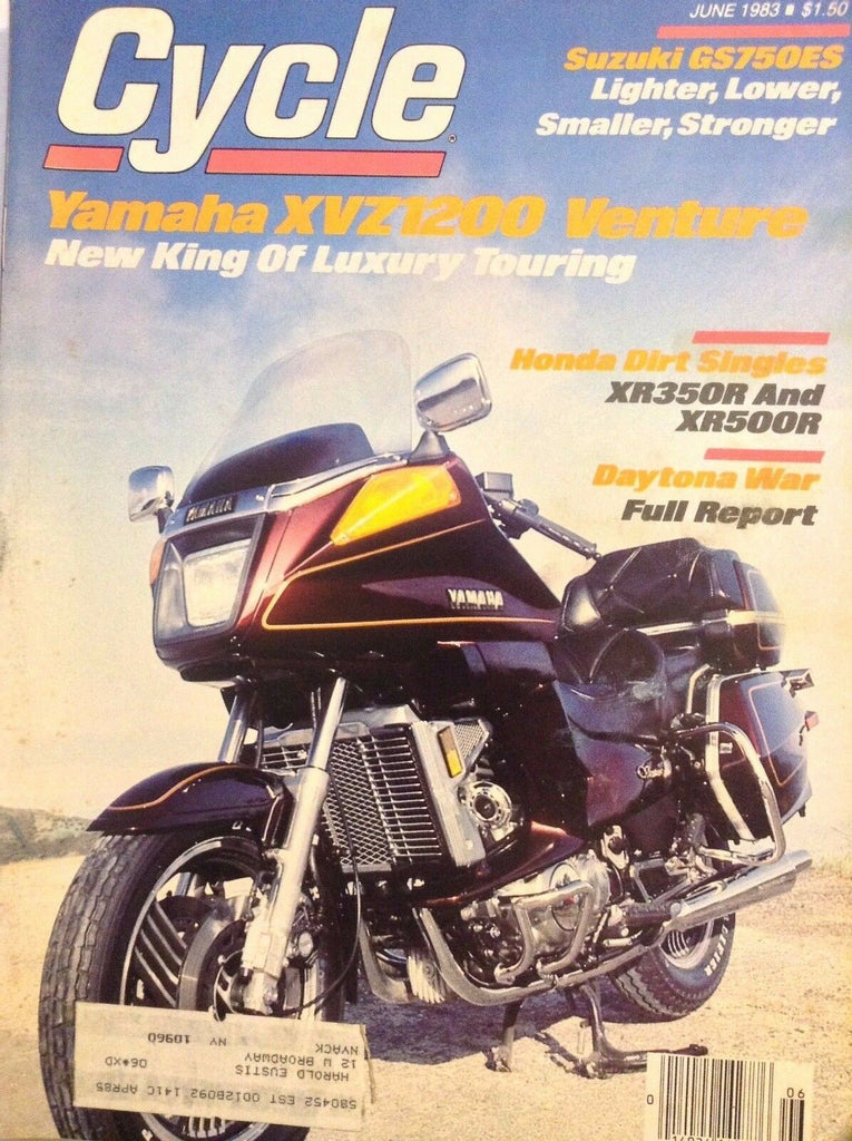 Cycle Magazine Yamaha XVZ1200 Venture June 1983 110817nonrh3
