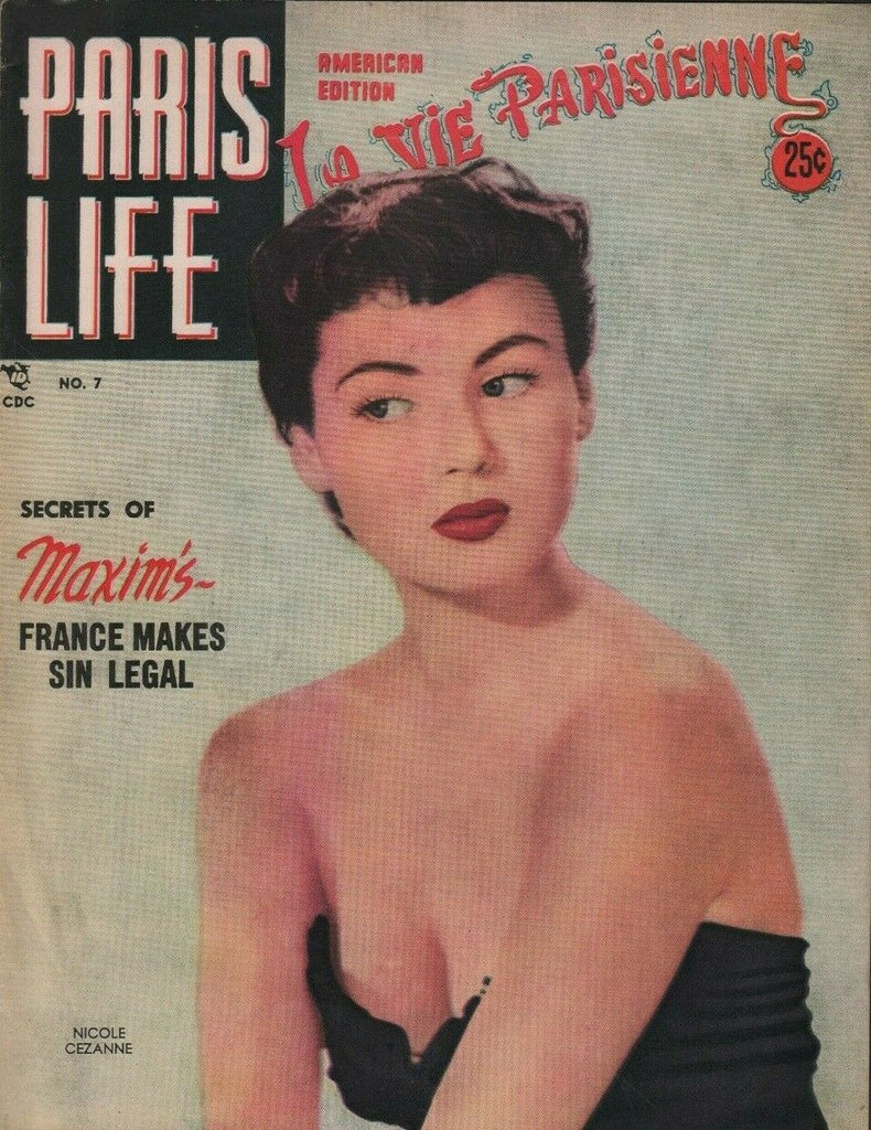 Paris Life American Edition July August 1952 Nicole Cezanne 072219DBE