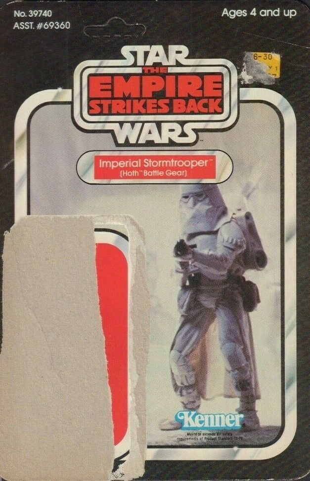 Imperial Stormtrooper Hoth Star Wars TESB Card Back Only KENNER 1980 031419DBT