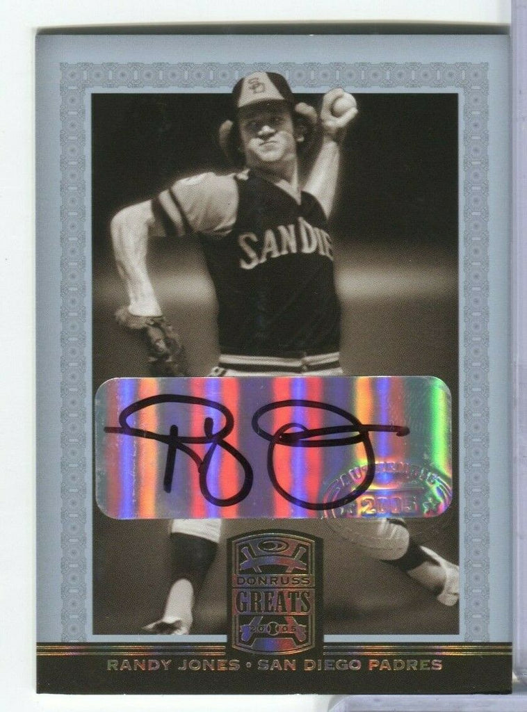 Randy Jones Padres Donruss Greats 2005 Signed Card #66 100219DBCD2