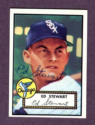 Autographed Signed 1952 Topps Reprint Series #279 Ed Stewart w/coa jh33