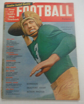 Football Magazine Ralph Guglielmi & The Big Ten 1954 Vintage 061615R
