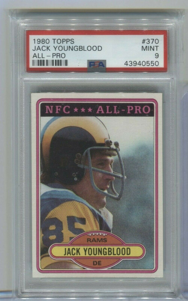 Jack Youngblood Rams All-pro 1980 Topps #370 PSA 9 120319DBCD