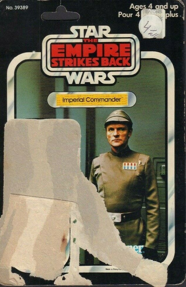 Imperial Commander Star Wars TESB Canadian Card Back Only 1980 031419DBT