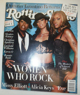 Rolling Stone Magazine Missy Elliott Alicia Keys October 2003 NO ML 040615R2