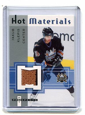 2006 Hot Materials Jakub Klepis Capitals Jersey Card jh17
