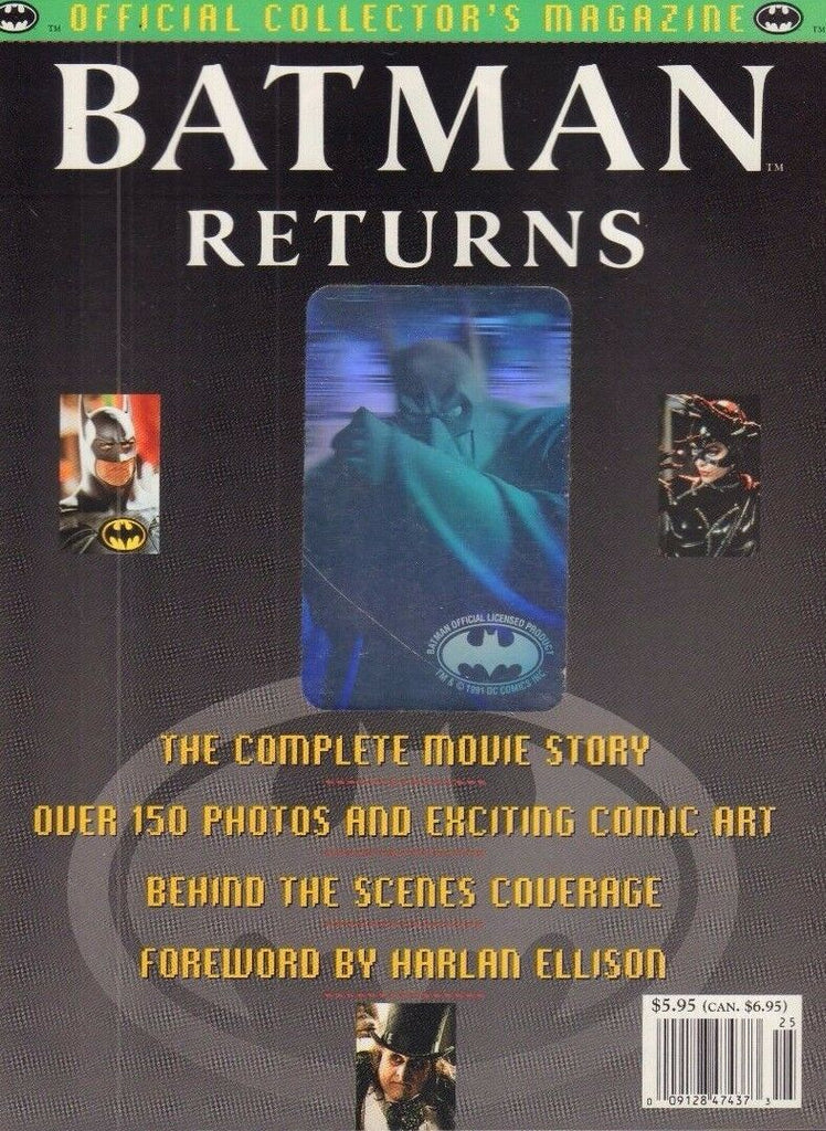 Batman Returns Collectors Magazine Topps 1992 Tim Burton 092717DBE