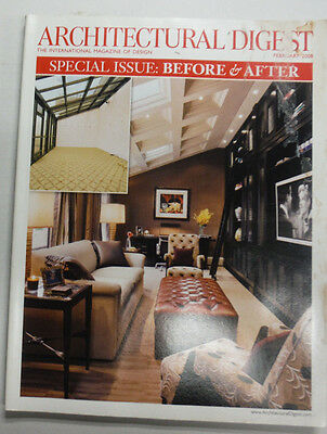 Architectural Digest Magazine Special Before & After Issue February 2008 070415R