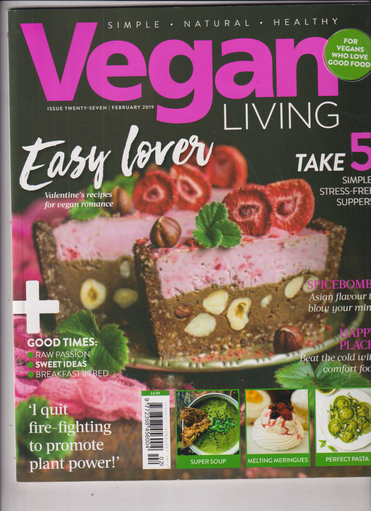 Vegan Living Mag 5 Simple Stress Free Suppers February 2019 010320nonr