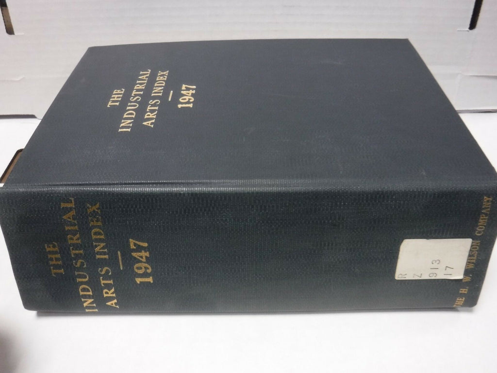 The Industrial Arts Index 1947 RARE H.W. Wilson Co Ex-FAA 121818AME8
