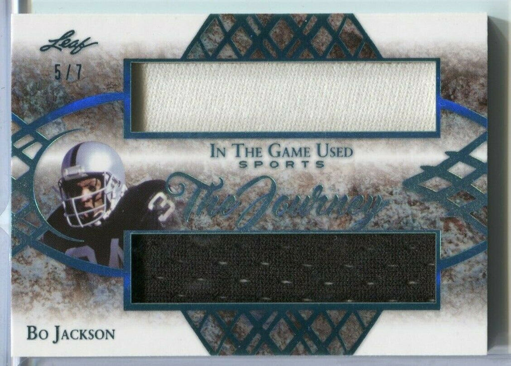 Bo Jackson The Journey Jersey Card 5/7 Leaf TJ-02 2019 022820DBCD