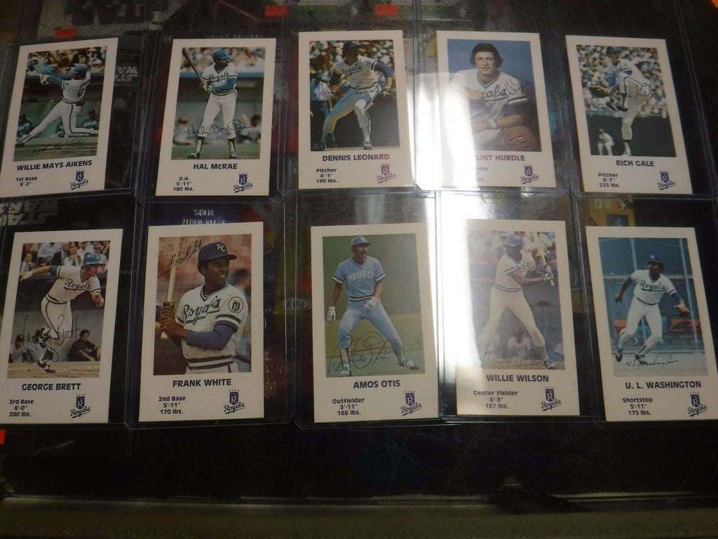 Kansas City Royals 1981 Kids And Kops Baseball Cards w/George Brett 061417jh