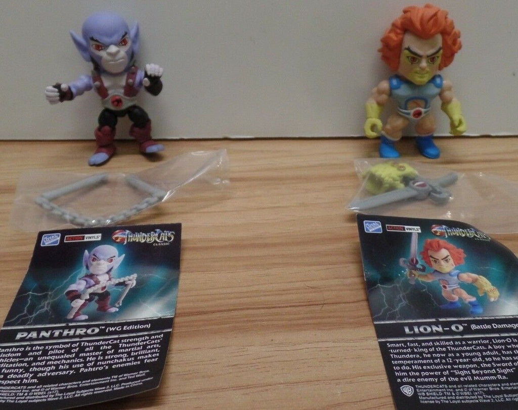 "Thunder Cats Lot of 2 3"" Action Vinyls Lion-O Pantro 101718DBT7"