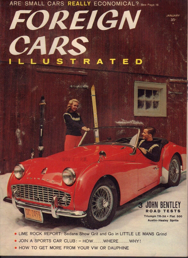 Foreign Cars Magazine January 1959 John Bentley Triumph Fiat 080817nonjhe