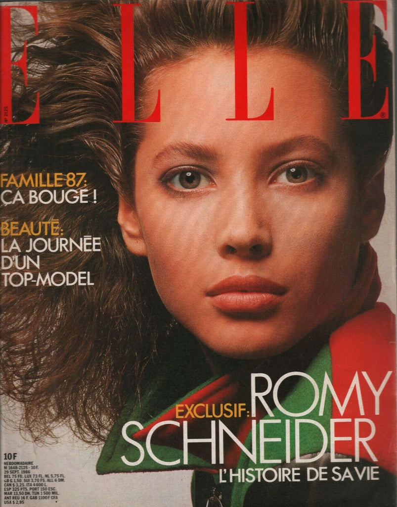 Elle French Fashion Magazine Sept 1986 Romy Schneider 112119AME