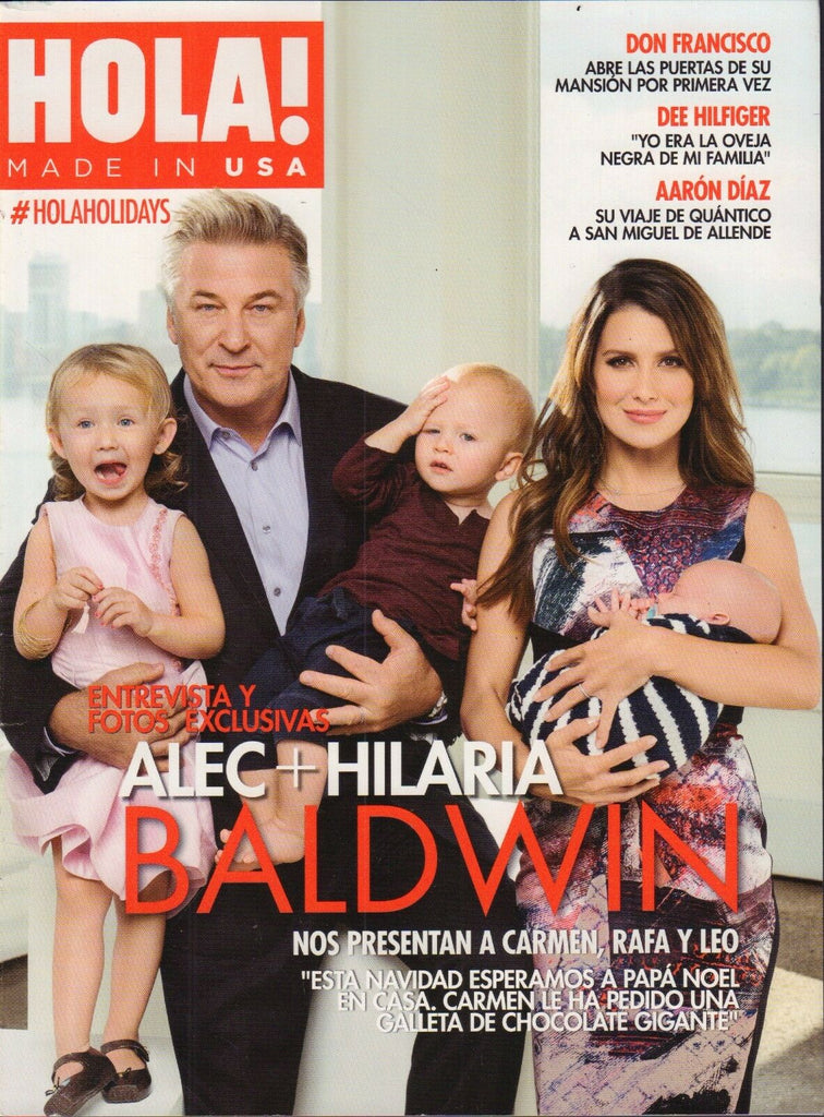 HOLA! Spanish Made in USE Magazine Alec Baldwin 012117DBE2