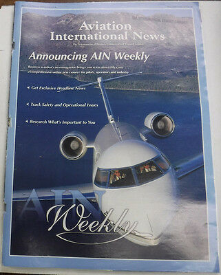Aviation International News Magazine Announcing AIN Weekly May 2000 FAL 072115R