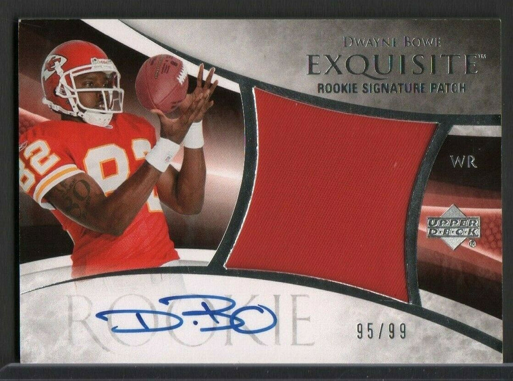 Dwayne Bowe Exquisite Rookie Signed Jersey Upper Deck 95/99 #126 061419DBCD