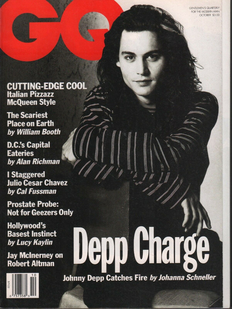 GQ Magazine October 1993 Johnny Depp Johanna Schneller Robert Altman 081518DBE