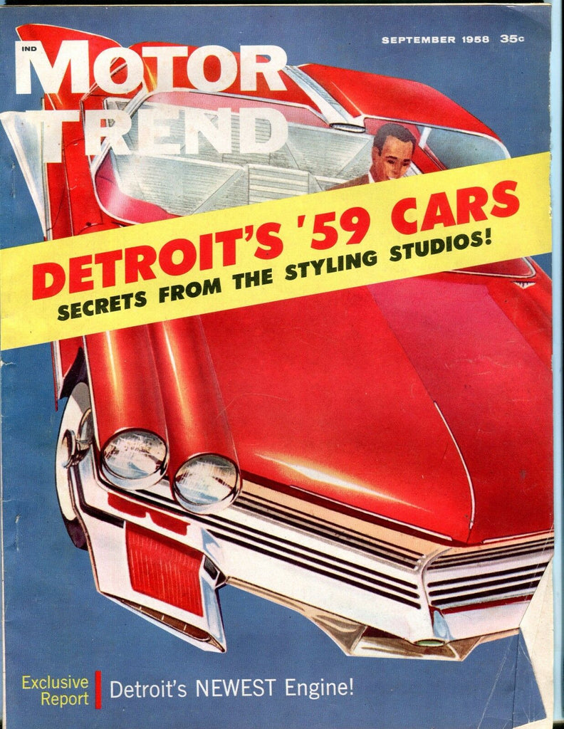 Motor Trend Magazine September 1958 Detroit's '59 Cars EX No ML 051917nonjhe