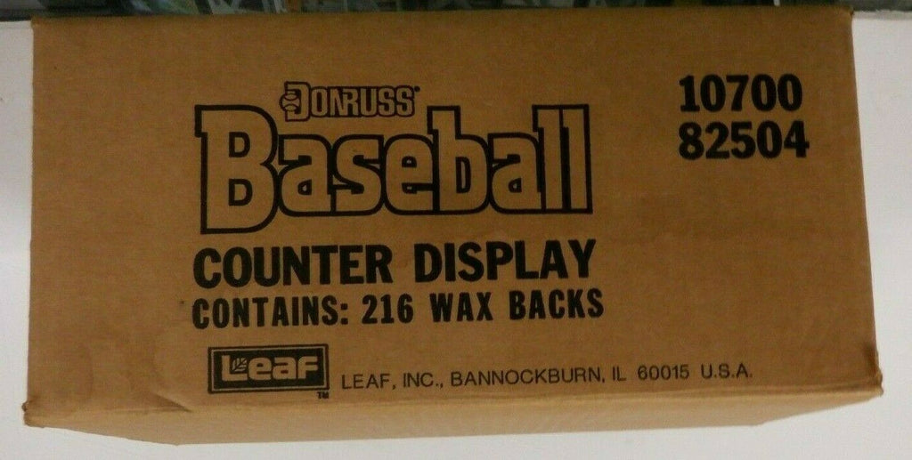 1988 Donruss Baseball Counter Display Case Wax Packs 215 Missing 1 121719DBT5