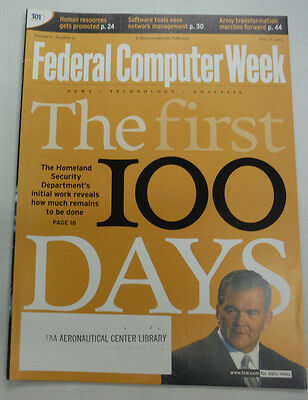 Federal Computer Week Magazine Homeland Security First 100 Days May 2003 071515R