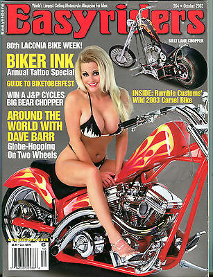 Easyriders Magazine October 2003 Biker Ink Tattoo Special EX 062716jhe