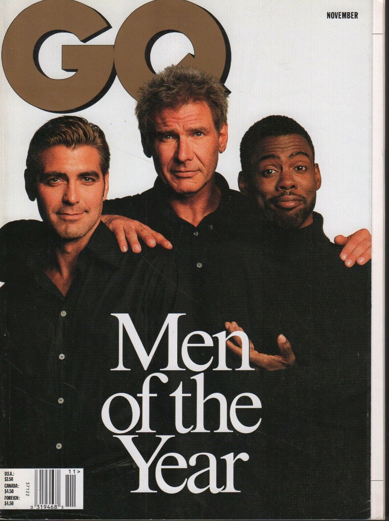GQ Magazine November 1998 Harrison Ford George Clooney 081518DBE
