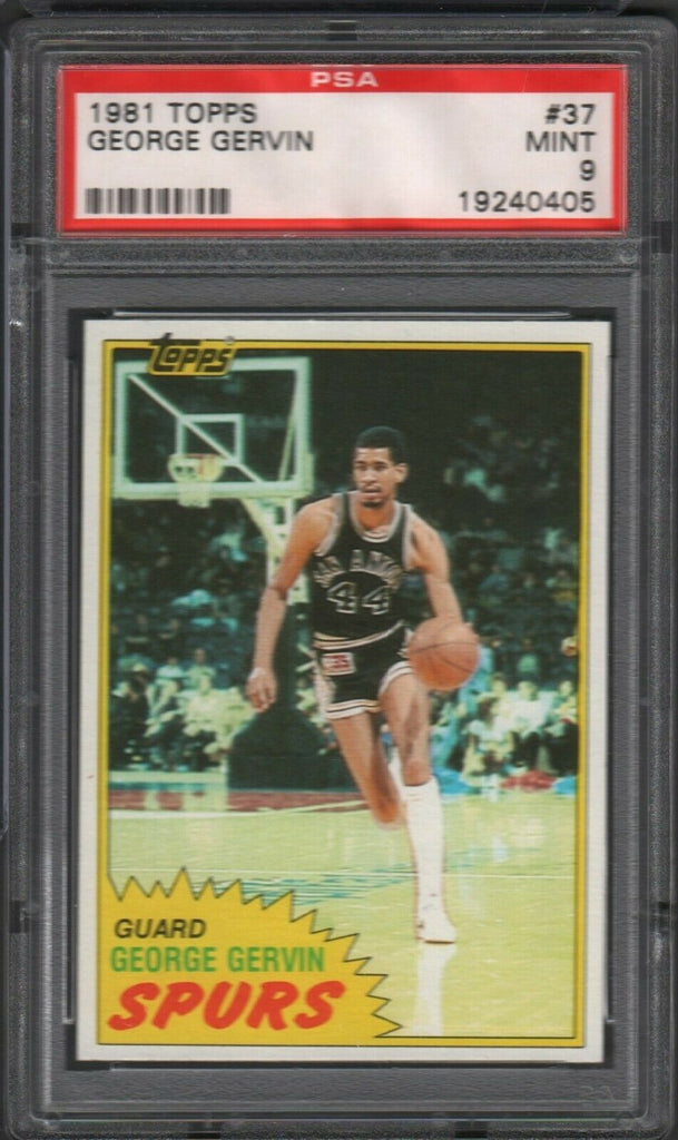 1981 Topps George Gervin Spurs #37 PSA 9 061019DBCD