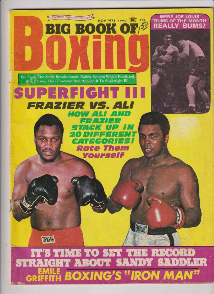 Big Book Of Boxing Mag Joe Frazier Muhammad Ali November 1975 111219nonr2
