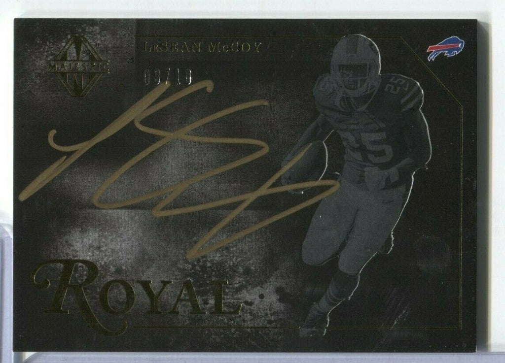 LeSean McCoy Buffalo Bills Signed 3/10 Royal Majestic ROY-LM Panini 100919DBCD