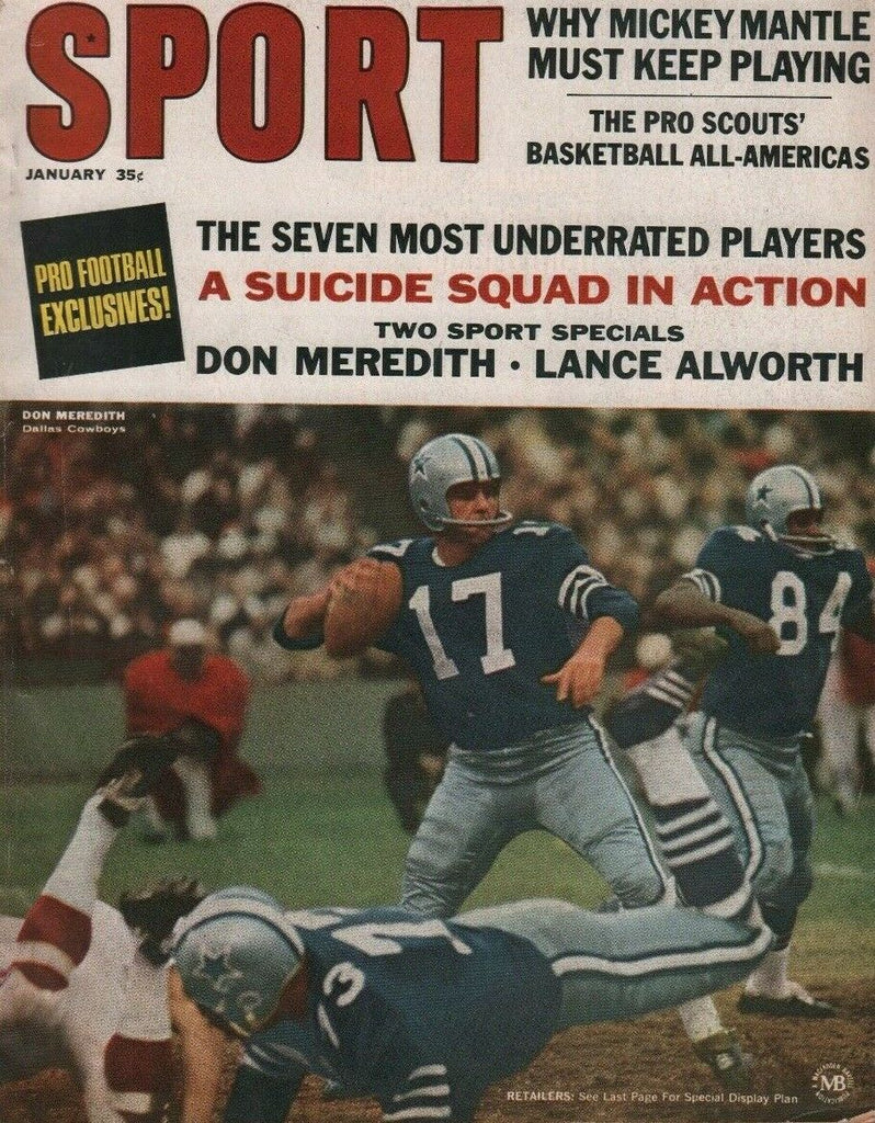 Sport January 1967 Don Meredith Mickey Mantle NFL AFL 050819DBE