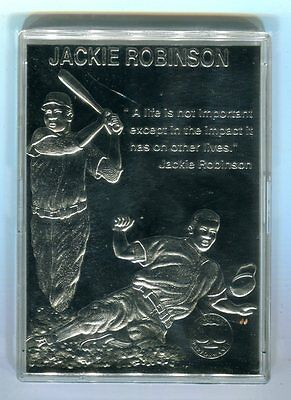 Jackie Robinson Dodgers Gold Performance Baseball Card #'d 2232 jh17