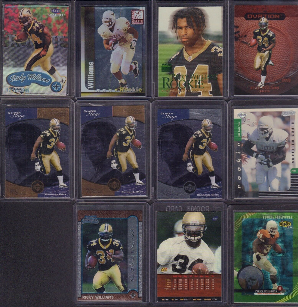 Ricky Willliams 1999 Lot Of 11 Rookie Cards RC w/Upper Deck Bowman++ jh67