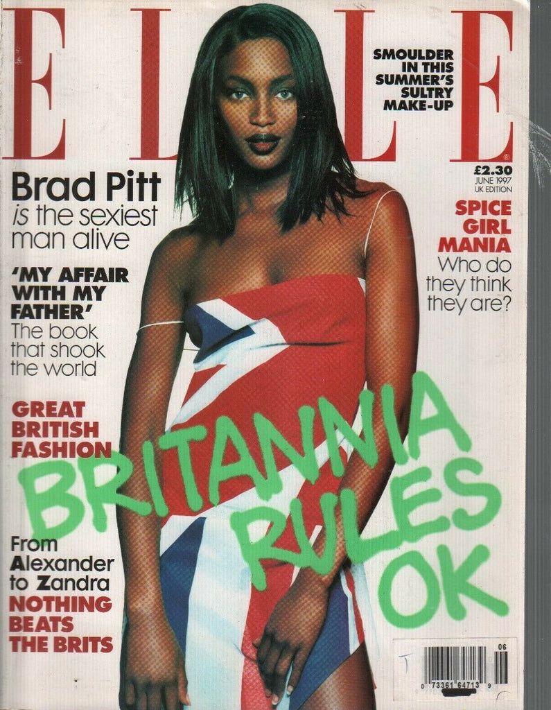 Elle UK Edition Magazine June 1997 Brad Pitt Spice Girls Brianna Rules 090919AME