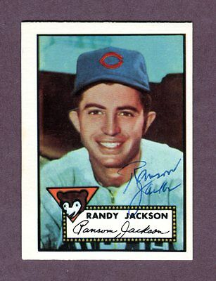 Autographed Signed 1952 Topps Reprint Series #322 Randy Jackson Cubs w/coa jh33