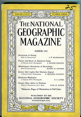 National Geographic Magazine March 1942 Revolution In Eating VGEX 011116jhe