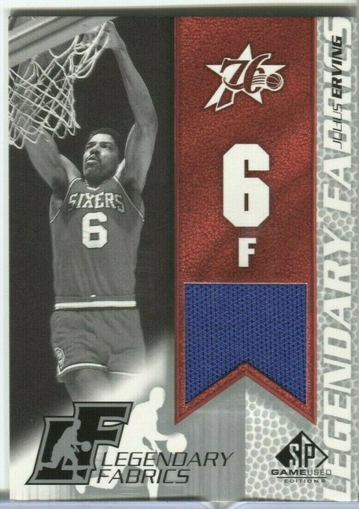 Julius Erving 76ers Legendary Fabrics JE-L SP Game Used Editions 123119DBCD