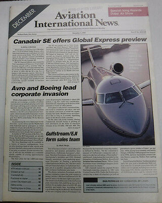 Aviation International News Magazine Canadair SE December 1995 FAL 072115R