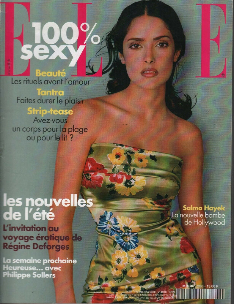 Elle French Magazine 2 Aout 1999 Salma Hayek Regine Deforges Fashion 091719AME2