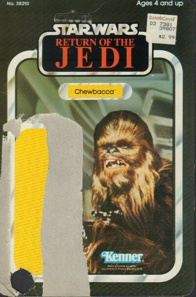 Chewbacca Star Wars ROTJ Card Back Only KENNER 1983 031419DBT