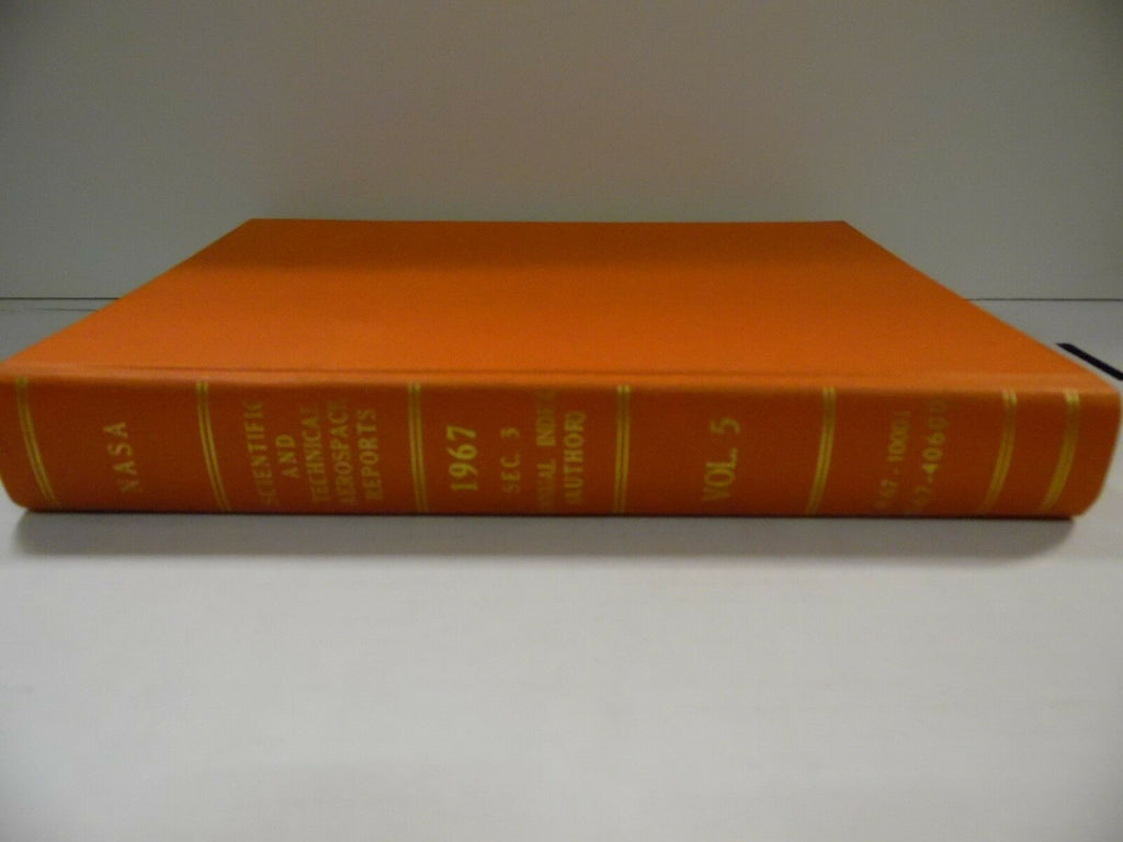 NASA Scientific & Technical Aerospace Reports Index 1967 Sec 3 Vol 5 102518AME4